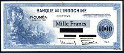 1000 FRANCS USA Imp°Américaine NOUMEA