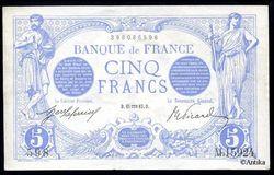 5 FRANCS BLEU - Type 1905
