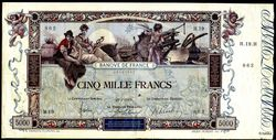 5000 FRANCS FLAMENG - Type 1918