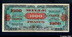 1000 FRANCS Verso \