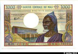 1000 FRANCS Président  Mamadou KONATE