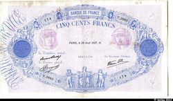 500 FRANCS BLEU & ROSE -Type 1888 modifié