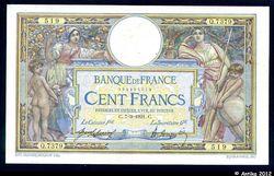 100 FRANCS LOM - Type 1906 sans LOM