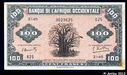 100 FRANCS  Baobab Imp° USA