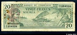 20 FRANCS Impression Australienne France LIBRE