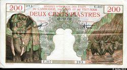 200 PIASTRES Eléphant & Buffles