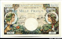 1000 FRANCS COMMERCE & INDUSTRIE - Type 1940