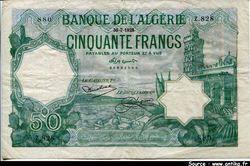 50 FRANCS Port d\'Alger