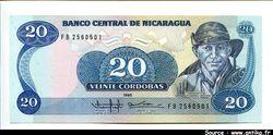 20 Cordobas G.P Ordonez     *       *