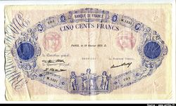 500 FRANCS BLEU &  ROSE - Type 1888