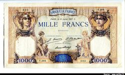 1000 FRANCS CERES & MERCURE - Type 1927