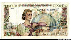 10 000 FRANCS GENIE Français- Type 1945