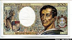 200 FRANCS MONTESQUIEU -Type 1981