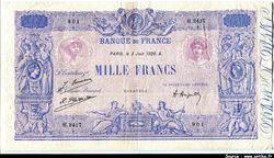 1000 FRANCS BLEU & ROSE - Type 1889