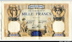 1000 FRANCS CERES & MERCURE - Type 1927 modifié