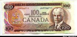 100 Dollars Sir Robert Borden