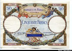 50  FRANCS LOM - Type 1927