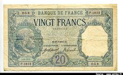 20 FRANCS BAYARD - Type1916