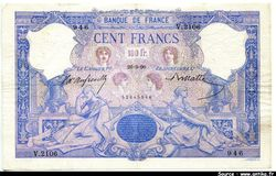 100 FRANCS BLEU & ROSE - Type 1888