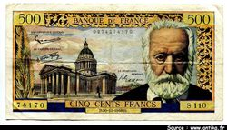 500 FRANCS VICTOR HUGO - Type 1953