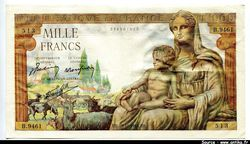 1000 FRANCS DEMETER - Type 1942