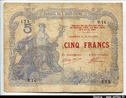 5 FRANCS Bleu & Rouge NOUMEA