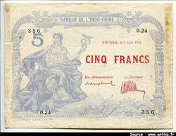 5 FRANCS Bleu \