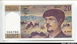 20 FRANCS DEBUSSY - Type 1980