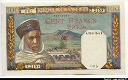 100 FRANCS Notable Algérien