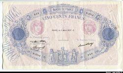 500 FRANCS BLEU &  ROSE - Type 1888