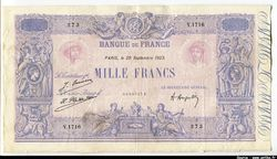 1000 FRANCS BLEU & ROSE - Type 1889