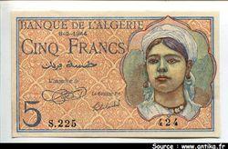 5 FRANCS Jeune Musulmane