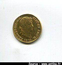 1 ESCUDO FERDINAND VII 1808-1821 2 traces de Monture Revers 3,86