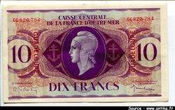 10 FRS MARIANNE Type Anglais