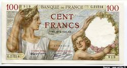 100 FRANCS SULLY - Type 1939