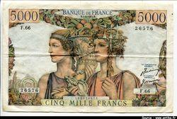 5000 FRANCS TERRE & MER - Type 1949