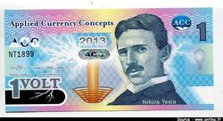 APPLIED CURRENCY CONCEPT 1 Volt Nicolas Tesla    *    *