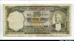100 Lirasi Kamel Atartürk  RARETE