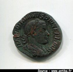 GORDIEN III LE PIEUX 238-244 AP JC - SESTERCE ROME 243  R/ FORTV