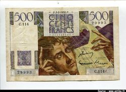 500 FRANCS CHATEAUBRIAND - Type 1945