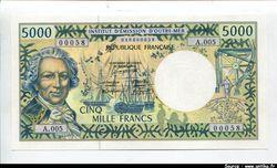 5000 FRANCS Bougainville & Trois mâts