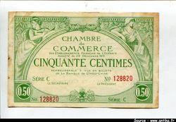 50 CENTIMES Chambre de Commerce