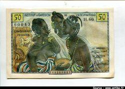 50 FRANCS Trois Femmes Africaines