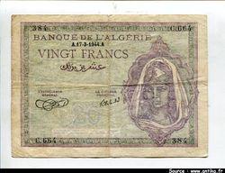 20 FRANCS Femme Algérienne