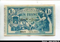 1 FRANC Bleu Chambre de Commerce BONE