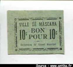 10 CENTIMES Ville de MASCARA