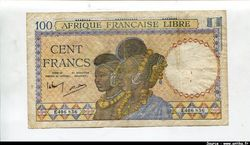 100 FRANCS Bustes de Femmes Foulahs