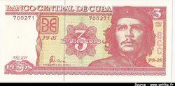 3 Pesos Che Guevarra  *  *  *   *  *  *   *   *  *  *   *   *  *