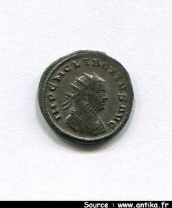 TACITE 275-276 AP JC - ANTONINIEN 276 ROME 3ème Emiss° R/AEQVITA