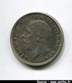 1/2 COURONNE  Argt GEORGES V  15000 ex